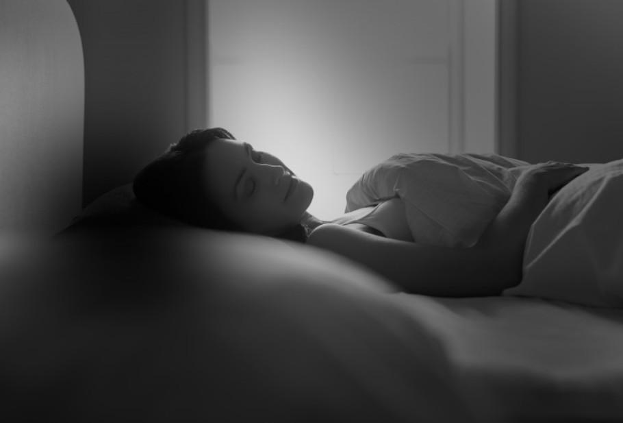 Sleeping Woman Bw