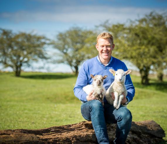 Adam outside lamb 34